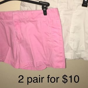 2 pair of shorts